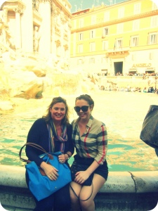 hugs at the trevi fountain
